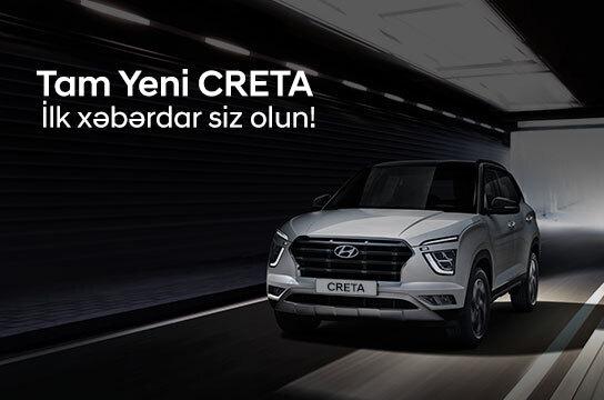 Tam Yeni Creta ilk xəbərdar siz olun!