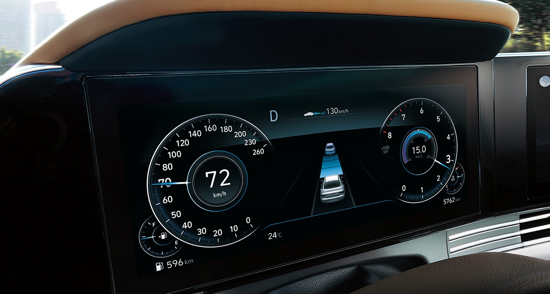 Azera Digital gauges deliver maximum engagement.