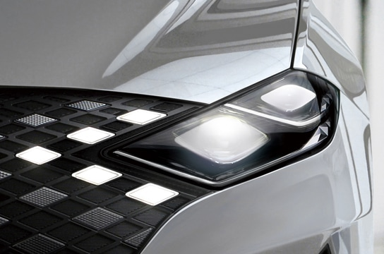 Full LED headlamps and hidden DRL
