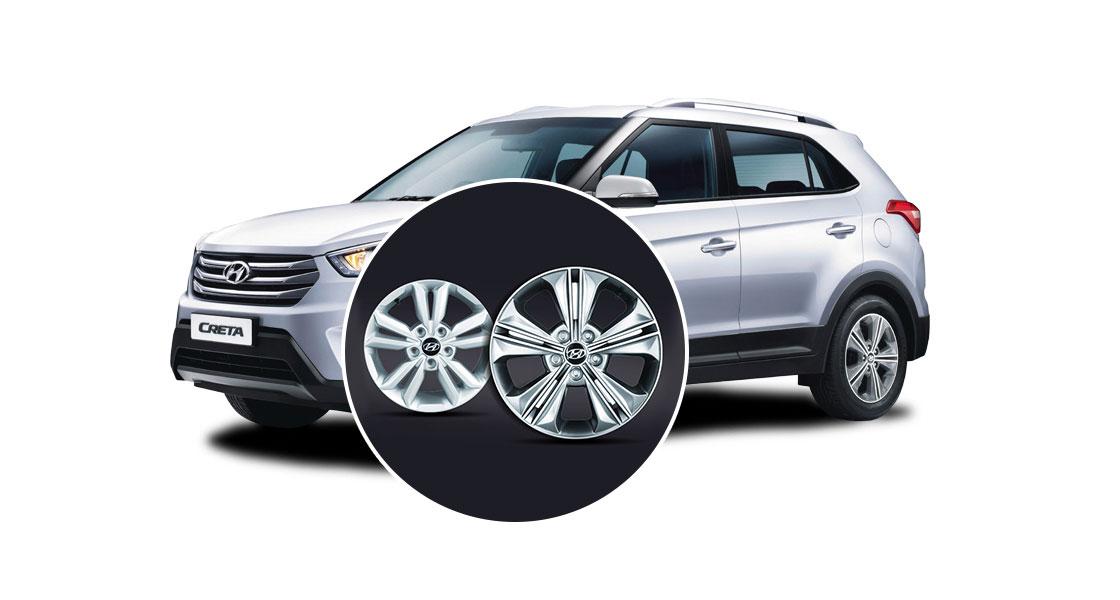 Two alloy wheels