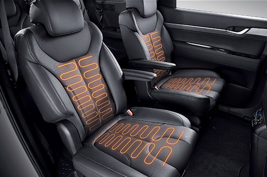 Palisade rear seat warmer