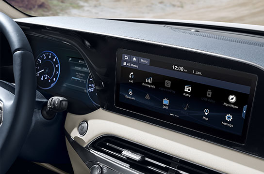 """7"""" cluster / 10.25"""" navigation (Apple Carplay / Android Auto)"""