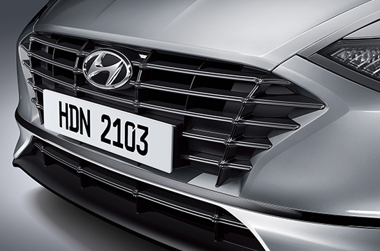 Silver paint radiator grille