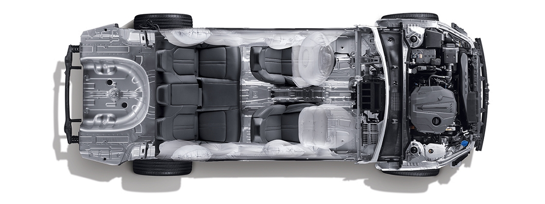 Sonata engine room structure and 9 air bag system